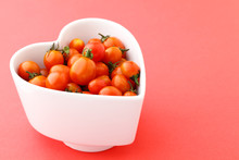 Cherry Tomato In Heart Shape Bowl