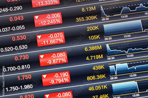 Valokuva  Recession of stock market