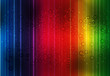canvas print picture - Spectrum background with light and drop