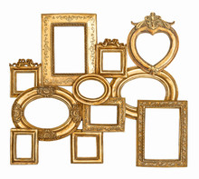 Antique Golden Framework Isola...