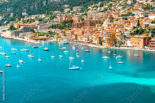 Photo sur Toile Nice luxury resort Villefranche, french riviera, Provence