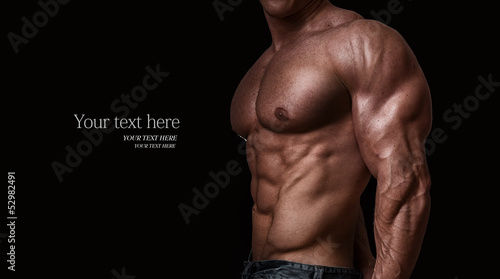 Foto Muscular and sexy torso of young man