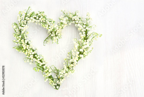Photo Stands Lily of the valley Flower wreath of lilys of valley