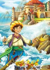 Obraz na płótnie Canvas The prince- castles - knights and fairies