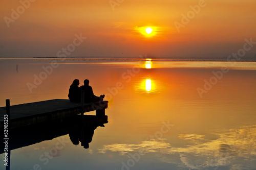 Foto auf AluDibond Pier amor en el lago