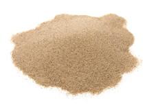 Pile Desert Sand Isolated On White Background