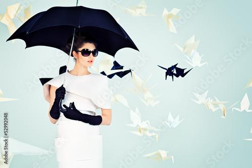 Fotografie, Obraz  umbrella black