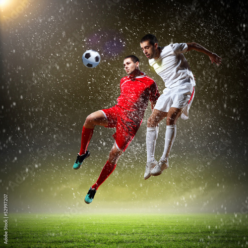 Photo Stands Football Two football player