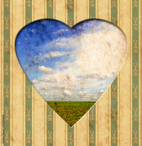 Recess Fitting Vintage Poster Vintage Heart - Natur