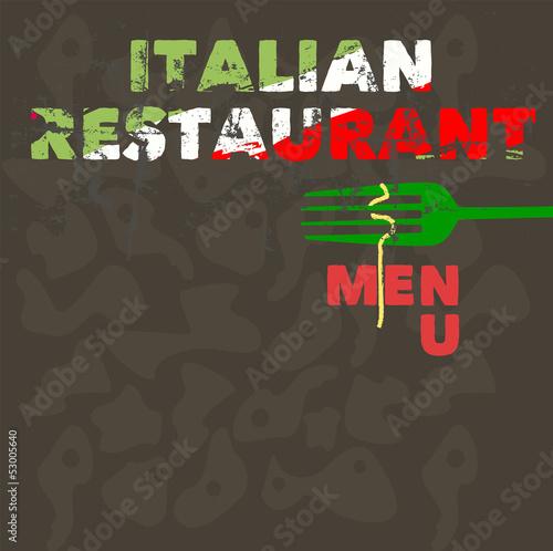 italian restaurant menu design template free copy space buy this