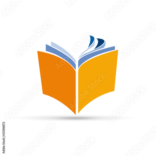 Fotografía  Vector Logo book