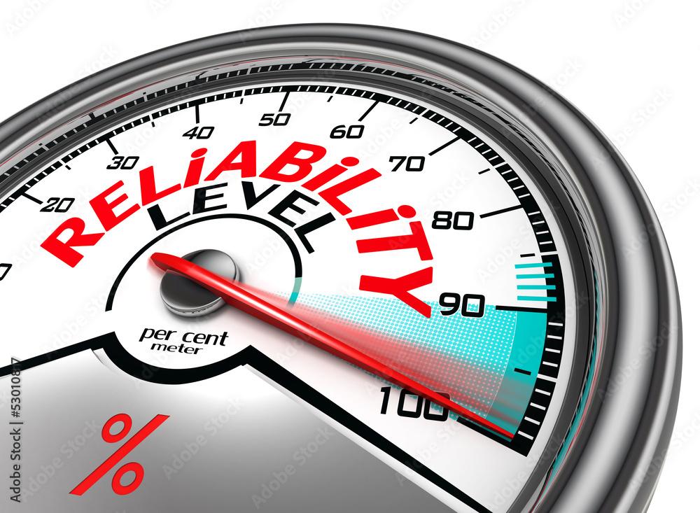 Fototapeta reliability level conceptual meter