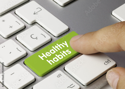 Fotografia  Healthy habits keyboard key