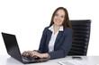 Hübsche Geschäftsfrau am Schreibtisch
