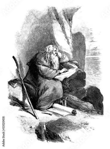 Fototapeta Saint John - Saint Jean a Patmos - Evangéliste