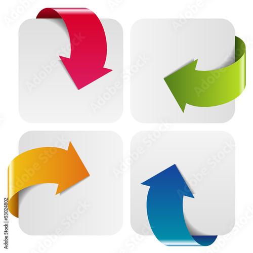 Obraz Flèche quatre couleurs - fototapety do salonu