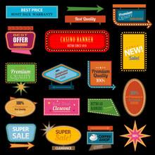 Retro Banner Motel Sign Eps 10