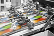 canvas print picture - Close up of an offset printing machine during production