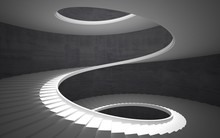 Abstract Concrete Spiral Stair...