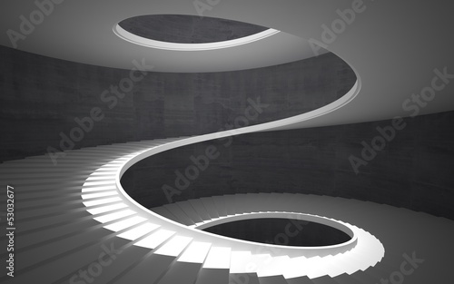 Canvas Print Abstract concrete spiral staircase