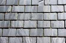Background On Roof With Slate Tiles