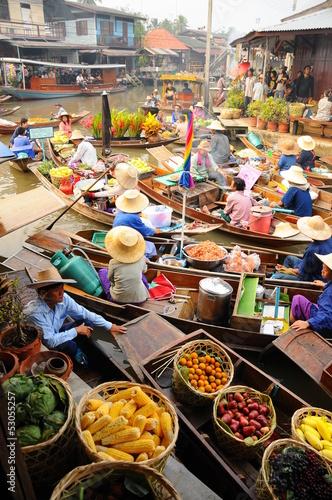 Photo  Amphawa Floating market,Thailand