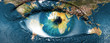 Planet earth and blue hman eye -