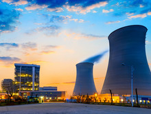 Tops Of Cooling Towers Of Atom...