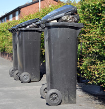 Domestic Black Wheelie Bins
