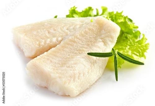 prepared fish fillet pieces Fototapeta