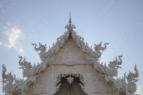 Spoed Foto op Canvas Bedehuis White Temple, Thailand