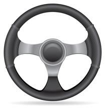 Car Steering Wheel Vector Illu...