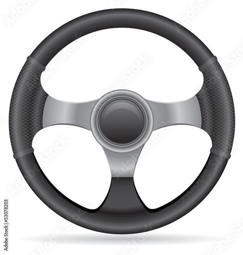 Photo car steering wheel vector illustration