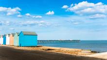 Bright Beach Huts At Felixstow...