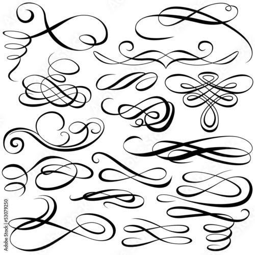 Fotografía  Calligraphic elements