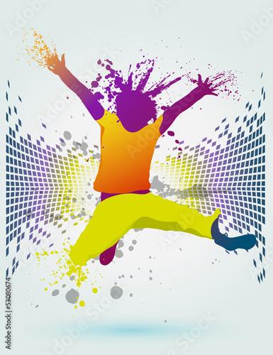 danse abstrait Canvas Print