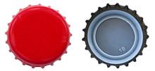 Red Metal Bottle Cap - Both Si...