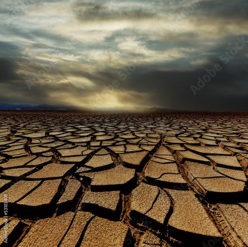 Drought land Canvas Print