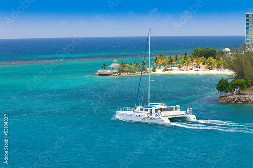 Photo Stands Caribbean Catamaran