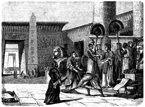 Fotografie, Obraz Ancient Egypt : Building a Monument - Alexandria