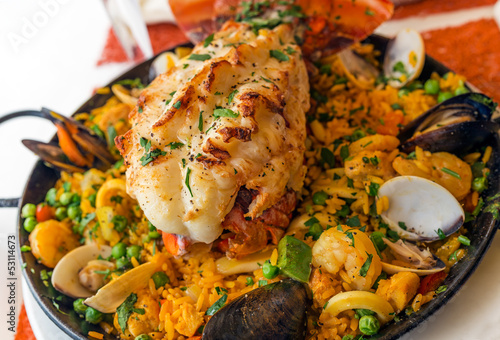 Paella with Lobster