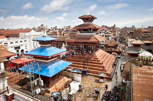 Wall Murals Nepal Durbar square in Bhaktapur in Kathmandu valley, Nepal.