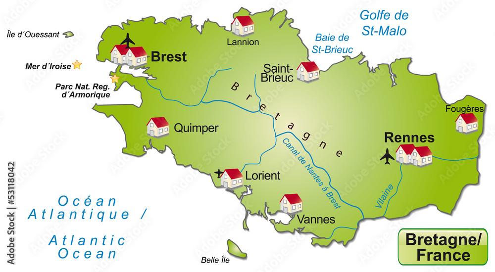Gamesageddon Stock Freigestellte Karte Der Region Bretagne In