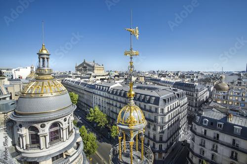 Papiers peints Paris Grands Magasins Boulevard Haussmann