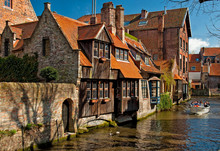 Houses Along The Canals Of Bru...