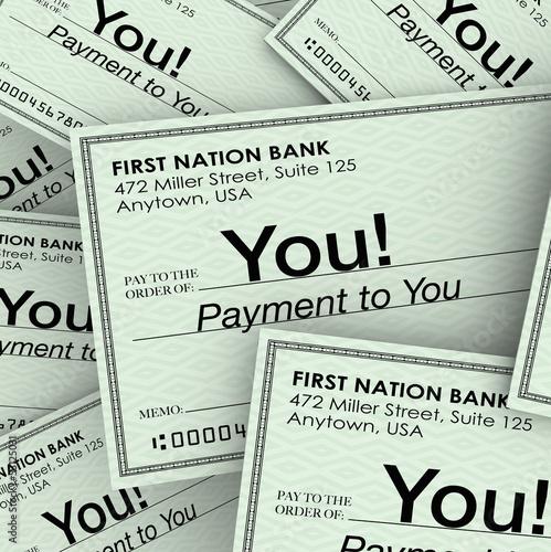 Fotografía  Checks Money Payment to You Income Paychecks