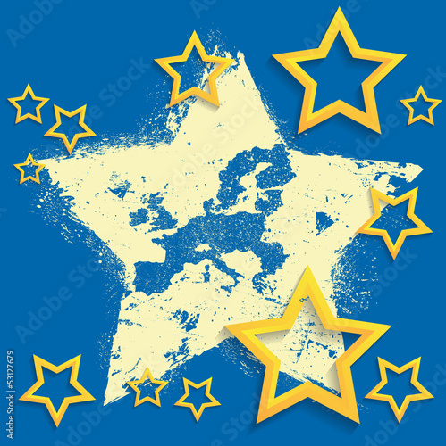 grunge-europe-union-map