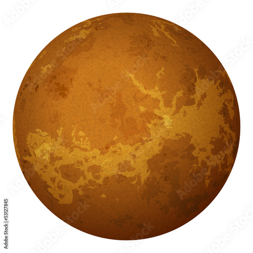 Planet Venus, isolated on white Poster
