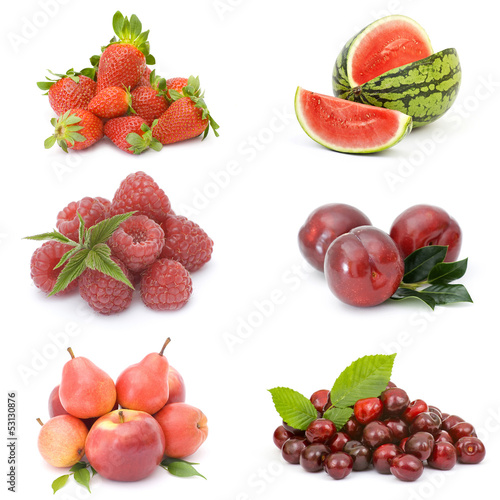 Poster Légumes frais collection of fresh fruits