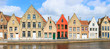 canvas print picture - Bruges town in Belgium